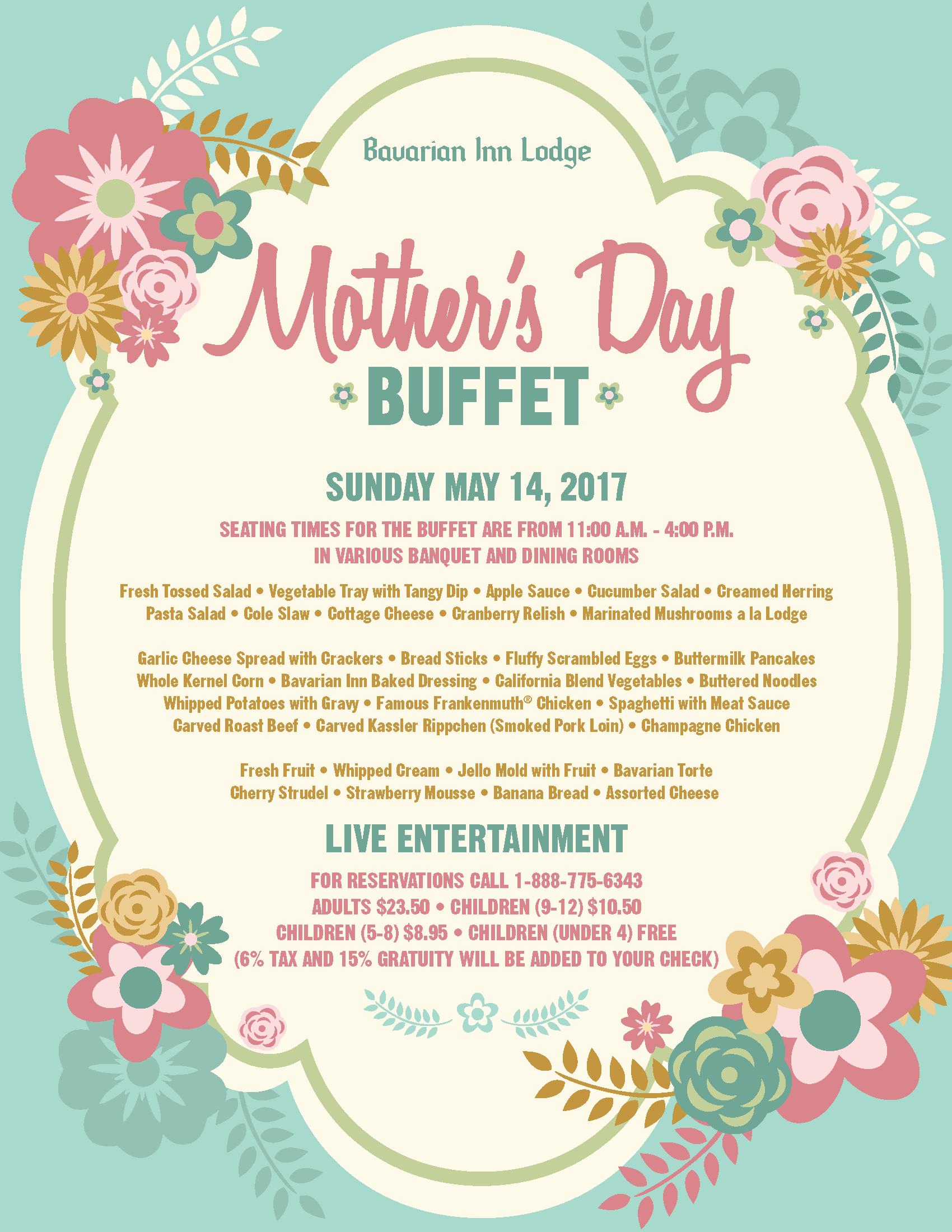2017 Mother's Day Buffet at Bavarian Inn Lodge - Bavarian Inn